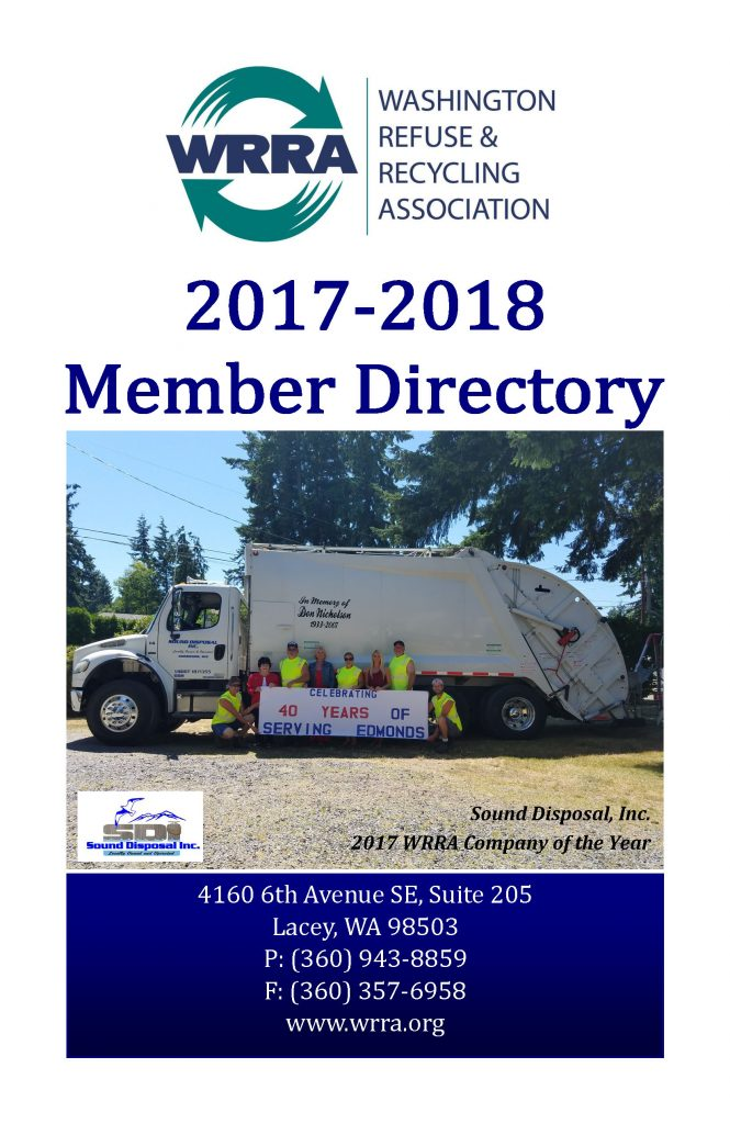 2017-2018 Member Directory - Front Cover